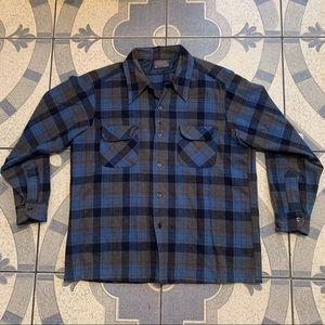 Vintage Pendleton Virgin Wool Plaid Flannel Shirt